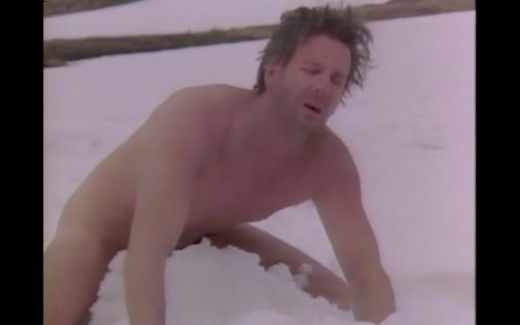 Mickey Rourke fucks a pile of snow in Liliana Cavani's Francesco (1989)