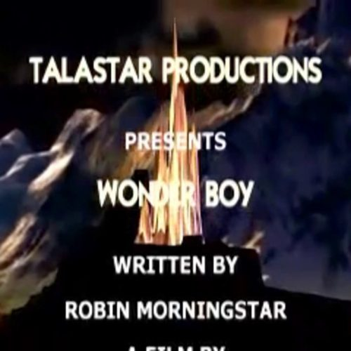 Wonder Boy (2010) title screen, with writer credit for Robin Morningstar