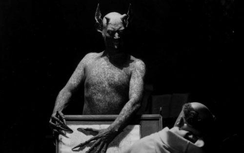 Director Benjamin Christensen performs as the devil in Häxan (1922)