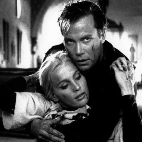 William Shatner embraces Allyson Ames at the climax of Incubus (1966)