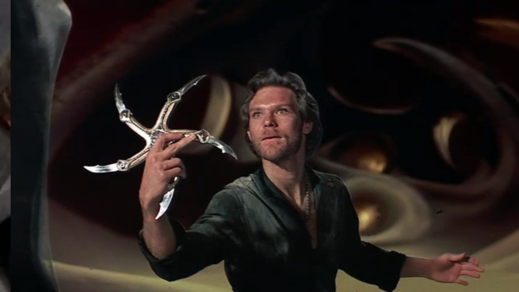 Ken Marshall wields the Glaive in Krull (1983)