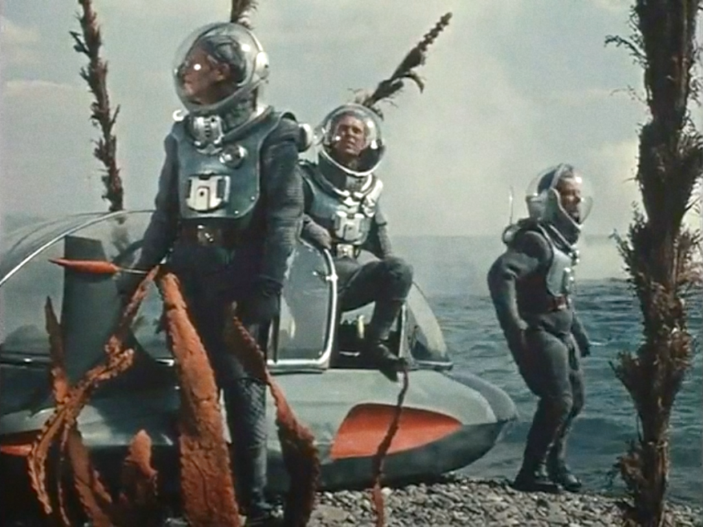 Still frame from Pavel Klushantsev's Planet of Storms (1962)
