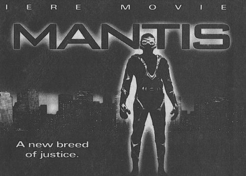 Newspaper ad for broadcast of the TV movie M.A.N.T.I.S.