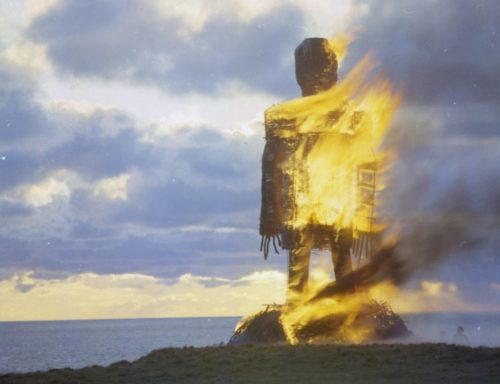 The climax of The Wicker Man (1973)